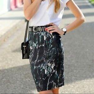 Zara B&W Collection Marble Bodycon Pencil Skirt ⚡️